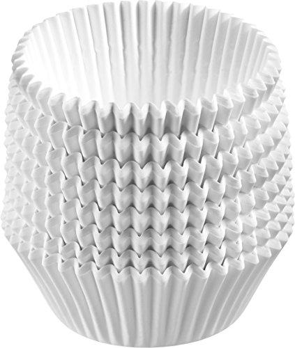 Westmark Papier-Muffinförmchen, 200 Stück, Ø 7 cm, Höhe je 2,7 cm, Papier, Weiß, 30272260