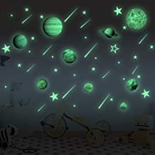 Glow in The Dark Stars and Planets Bright Solar System Wall Decals for Kids Glowing Ceiling Decals Space Wall Stickers for Nursery Bedroom Living Room,Shining Outer Space Decoration for Kids Toy