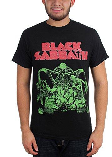 Black Sabbath - - Sabbat découpe T-shirt sanglant Sabbat pour hommes, X-Large, Black