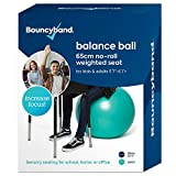Balance Ball - No-Roll Weighted Seat is a Flexible Chair for School, Office or Home(Large, Green)