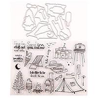 カードは装飾とDIYスクラップブッキングを作るためのメリークリスマスツリーオーシャンワールドトラベル城クリアスタンプ B