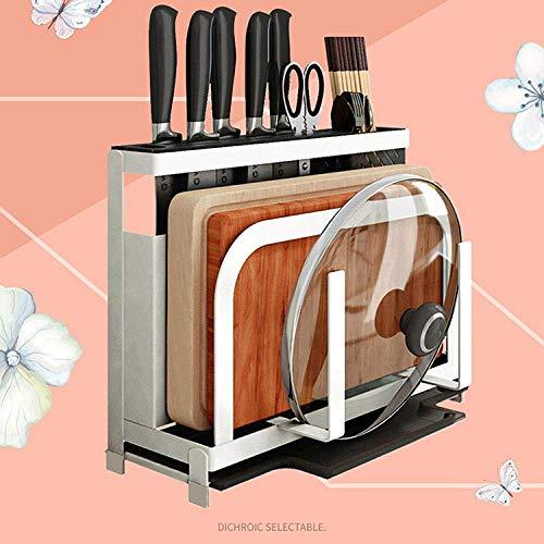 MYPNB Portacoltelli Knife Block Cucina Forniture Cutter Magazzinaggio Multifunzione da Taglio Tavolo Cutter Sticks Cage Piastra del Supporto Coltello sede mensola