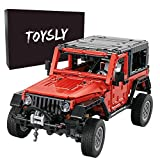TOYSLY Mini Off-Road Car Wrange MOC Technique Building Blocks and Engineering Toy, Adult Collectible Model Cars Kits to Build, 1:14 Scale Truck Model (1287 Pieces)