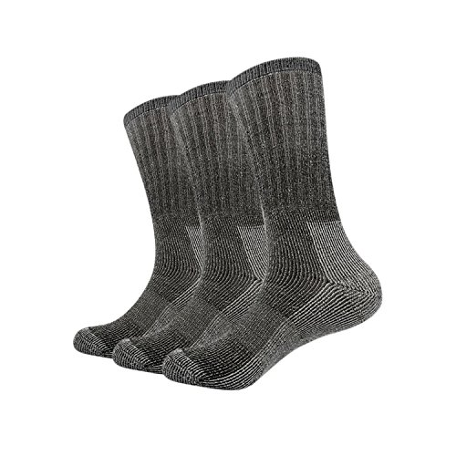 Vihir Merino Socken Herren - Lange Röhre Merino Sport Socken für Skifahren, Trekking, Wandern, Schwarz, 3Paar
