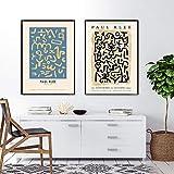 Paul Klee Pintura de lienzo Estilos de exposición Arte de la pared Cuadros de geometría abstracta Poster Impresiones para la Salon de estar Decoracion de la pared Obra de arte 50x70cmx2 Sin marco