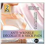 Chest Wrinkle Pads, Upgraded Chest & Neck Silicone Anti Wrinkle Patches for Skin Lines Prevention, Reusable Overnight Wrinkle Remover Pads