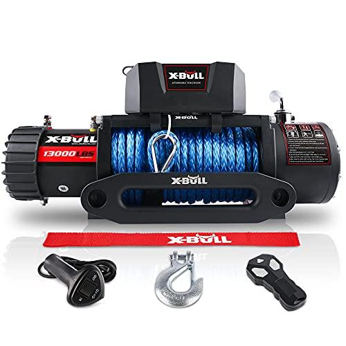 X-BULL Synthetic Rope Winch-13000 lb. Load Capacity