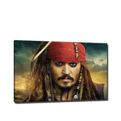 Fluch der Karibik Bild auf Leinwand - 60 x 40 cm - Fertig gerahmte Kunstdruck Bilder als Wandbild - Billiger als Ölbild Gemälde - KEIN Poster oder Plakat