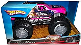 Hot Wheels Monster Jam 1:24 Scale Die Cast Official Monster Truck 2007 Series - Scarlet Bandit with Monster Tires,Working Suspension and 4 Wheel Steering