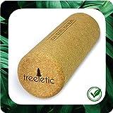 Treeletic – Rollo de corcho para fascia respetuoso con el medio ambiente, para entrenamiento de fascia y masaje, rollo de fitness sostenible para mejorar la movilidad