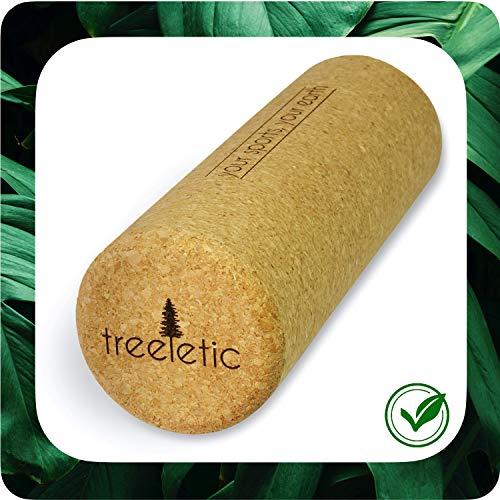 treeletic® nachhaltige Premium Faszienrolle aus 100% Kork | Korkrolle in 30x10cm