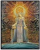 BOIPEEI Kits de Pintura de Diamantes 5D, Diosa psicodélica de mitología pagana, Kits de Bordado de Diamantes de imitación, Arte de decoración de Pared