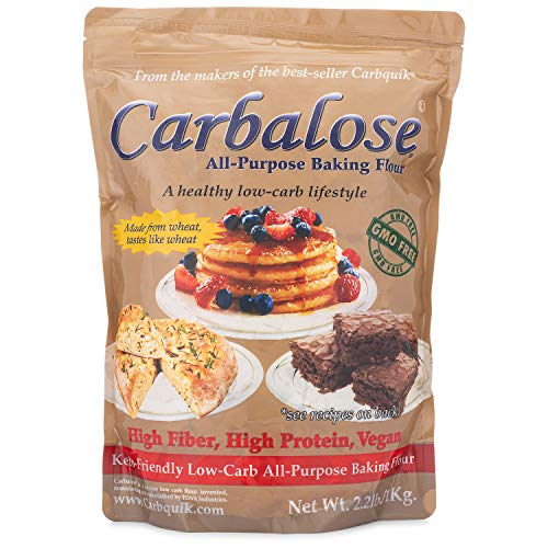Carbalose All-Purpose Low-Carb Flour (2.2 lb Resealable Pouch)