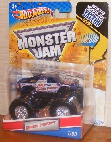 2011 Hot Wheels Monster Jam #1/80 SHOCK THERAPY 1:64 Scale Collectible Truck with Monster Jam TATTOO