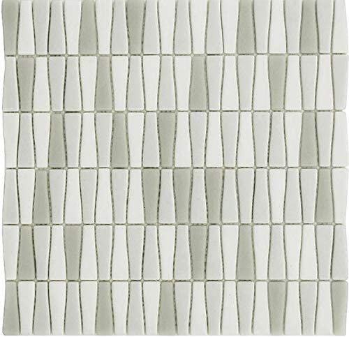 10 Sq Ft Box - Vetro D'Terra Carrara Bottle Shaped Glass Mosaic