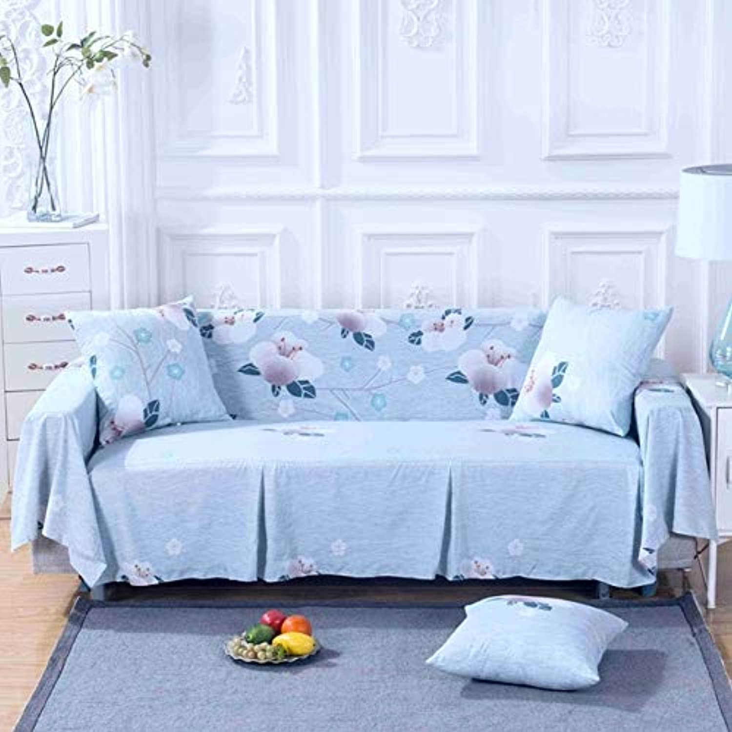 SunnyRain 1-Piece I Shaped Sofa Cover Sectional Sofa Covers Stretch Slipcover Couch Cover Sofa Predector   124, Double Seat Sofa
