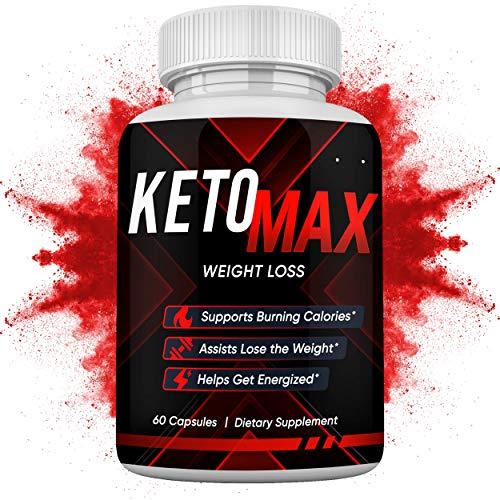 Keto MAX 10X Maximum Potency Weight Loss Pills - Burn Fat, Increase Stamina & Strength – Natural Apple Cider Vinegar w/ Mother, Green Tea, Caffeine, Raspberry Ketones - 60 CT