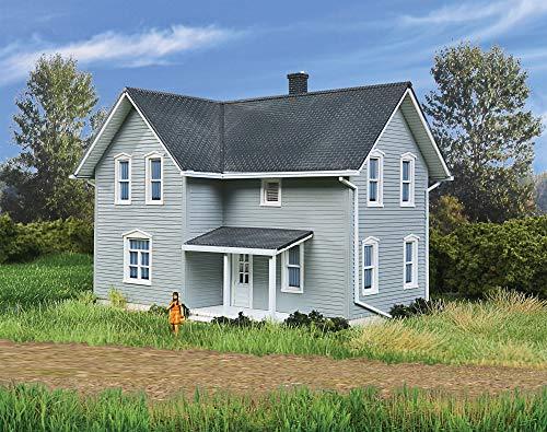 "Walthers Cornerstone HO Scale Model Tillman Farm House Kit, 3/8"" 11.9 x 10.7 x 11.1cm"