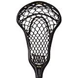 STX Lacrosse Crux 600 Strung Head with Crux Mesh Pro Pocket, Black/Black