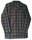 sock snob Herren 100% Baumwolle elegant Flanell Langarm Nachthemd Pyjama Oberteil in 4 größen (XL - 42-44', Green/Red)