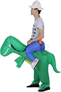 Goolsky Decdeal Cute Kids Inflatable Dinosaur Costume Suit Air Fan Operated Walking Fancy Dress Halloween Party Outfit T-R...