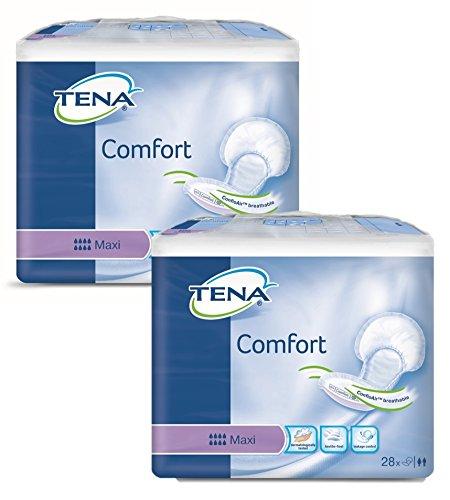 TENA Comfort Maxi - Inkontinenz-Vorlage für Fixierhosen (1 Karton = 2x28 = 56 Stück)