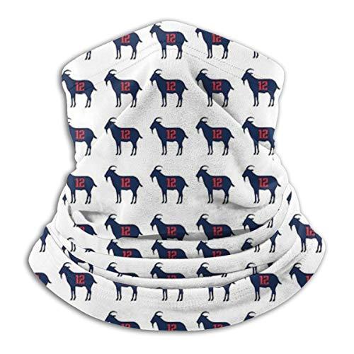 Solve Grocery Tom Brady 12 Goat Merchandise Multifunction Individuality Fashion Outdoor Sports Bandana Headwear Headwrap Neck Gaiter Ski Mask for Men Women