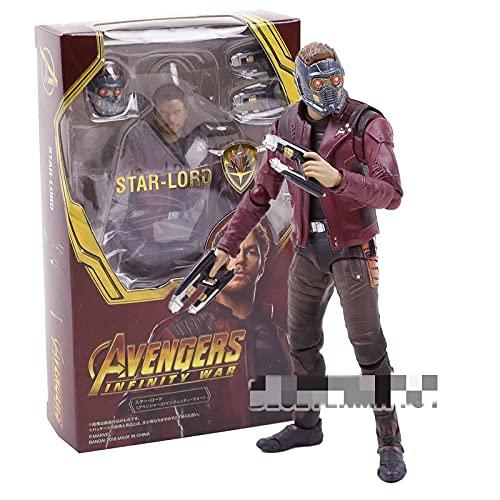 Jouet Figurine Star Lord Iron Man Docteur Spiderman Etrange Thanos Black Widow Capitaine Hulk Action Figure Jouet (Color : Star Lord Box)