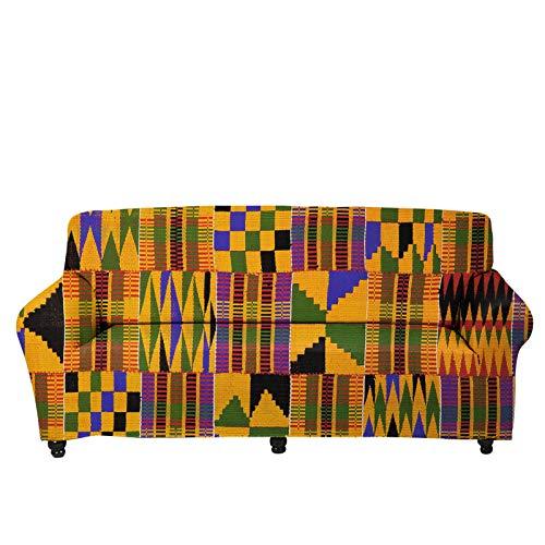 JBNJV Funda elástica para sofá de Estilo étnico Africano, Fundas de Tela Antideslizantes para sofá seccionales, Fundas de Cojines, Protector de Muebles