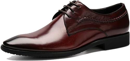 NIUMT Spitz Herren Lederschuhe Business Fashion Hochzeit Schuhe Brock Britischen Stil Schnürschuhe