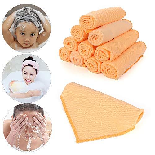 shihao159 microvezel handdoek, 10 stks rustgevende gezicht doek wassen schoonmaken zakdoek auto schrobben
