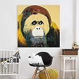KWzEQ Imprimir en Lienzo Póster de Arte de Pared de Gorila y fotografías para Sala de estar30x30cmPintura sin Marco