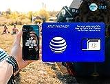 Tarjeta SIM prepagada AT&T para Estados Unidos Canadá y México - 22 GB 4G Datos, Llamadas ilimitadas y Textos