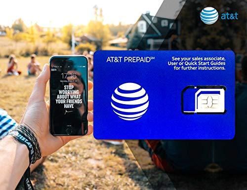 Prepaid AT&T SIM-Karte für USA Kanada und Mexiko – 22 GB 4G Daten, unbegrenzte Anrufe und SMS