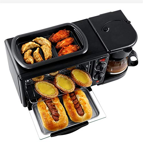 Hogar Multifuncional Desayuno Máquina 3 En 1 Horno Eléctrico Máquina De Pan...
