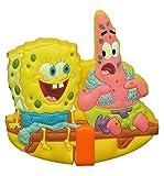 alles-meine.de GmbH Garderobenhaken - Spongebob Schwammkopf - für Kinder Haken Kinderzimmer - Wandhaken Garderobe Kleiderhaken zum Kleben ODER Aufhängen / Badhaken / Handtuchhake