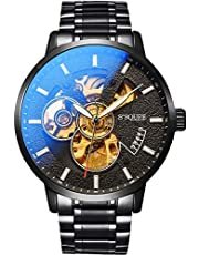 BesTn出品 腕時計 機械式 メンズ 自動巻き スポーツ ビジネス 凸凹 格好良い アンティーク 夜光 …