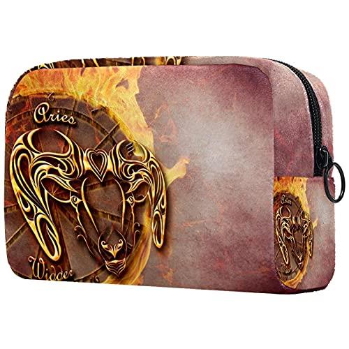 Bolsa de cosméticos de viaje grande para mujer – Neceser de viaje y maquillaje cosmético bolsa con muchos bolsillos mariposa azul 18,5 x 7,5 x 13 cm