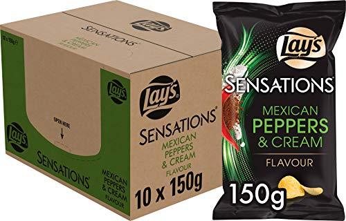 Lay's Sensations Chips Mexikanischer Pfeffer, Schachtel 10 Stück x 150 g