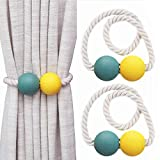 ViViKaya Magnetic Curtain Tiebacks, (2 Piezas) Cuerda de Bola magnética Decorativa