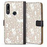 DeinDesign Étui Compatible avec Huawei P Smart Z Étui Folio Étui magnétique Bambi Produit sous...