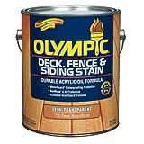 Olympic Deck/Fence/Siding Oil Stain Oil Base Exterior Cedar Natural Tone Semi Transparent 1 Gl Voc
