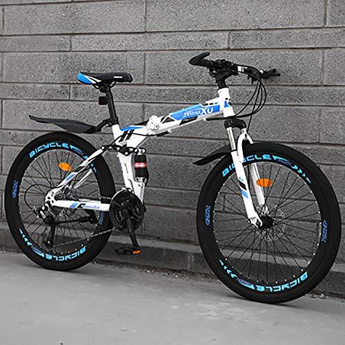 HAOYF Mountain Bike Plegable, Bicicletas De Montaña De 24/