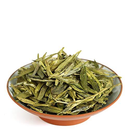 GOARTEA 100g (3.5 Oz) Organic West Lake Xihu Long Jing Longjing Dragon Well Spring Loose Leaf Chinese Green TEA Tee