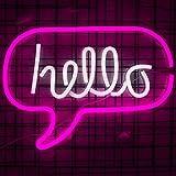 Hallo LED-Licht Neon Wort Zeichen Neon Wort Buchstaben Licht Kinderzimmer Dekor Wand Dekor für Baby...