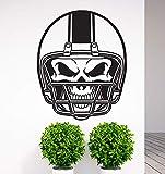 yaonuli Amovible Casque de Football crâne Vinyle Sticker Mural Autocollant Salon Chambre décoration Murale Mouvement Mural 54x39 cm