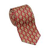 Josh Bach Men's Robot Silk Necktie in Red, Made in USA
