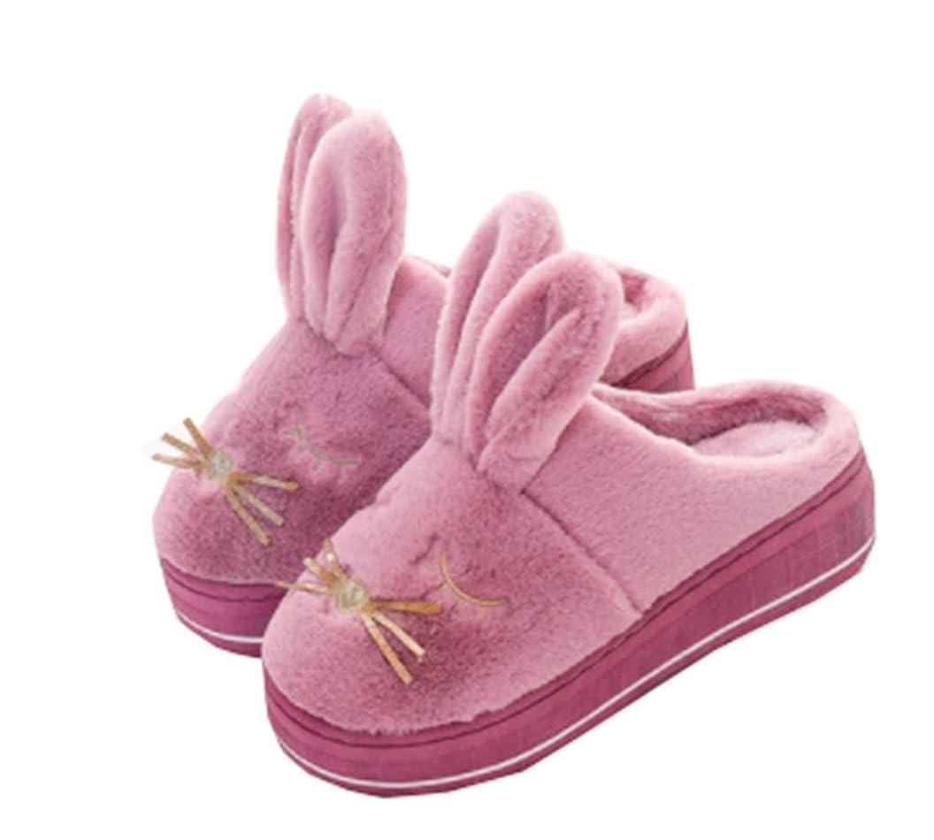 学んだバーベキュー気になる[ユケ二ー] ルームシューズ 室内履き 靴 可愛い 女性の靴 動物柄 スリッパ ルームシューズ ふわふわ 来客用 スリッパ レディース 厚底 あったか