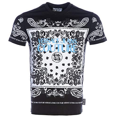 Versace Jeans Couture - Camiseta B3GZA7PH Jeans Zup600 Slim Bandana Black - B3GZA7PH30392899 - Schwarz, Large