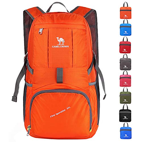 CAMEL CROWN 35L Lightweight Packable Backpack Travel Hiking Daypack Camping